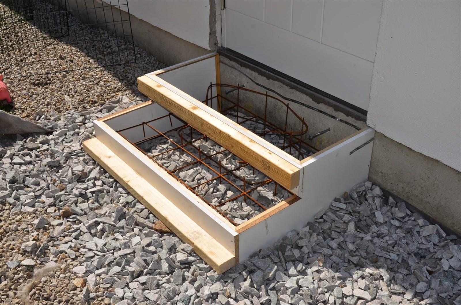 gjuta betong på betong