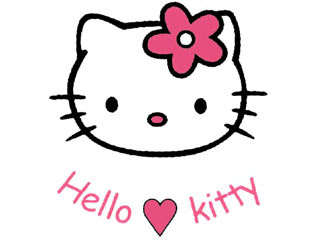 Hello Kitty kartun - sederhana