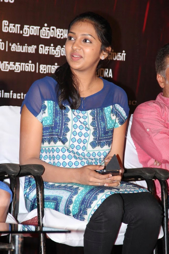 Lakshmi Menon Photos at Blue Dress at Naan Sigappu ... Naan Sigappu Manithan Lakshmi Menon Kiss