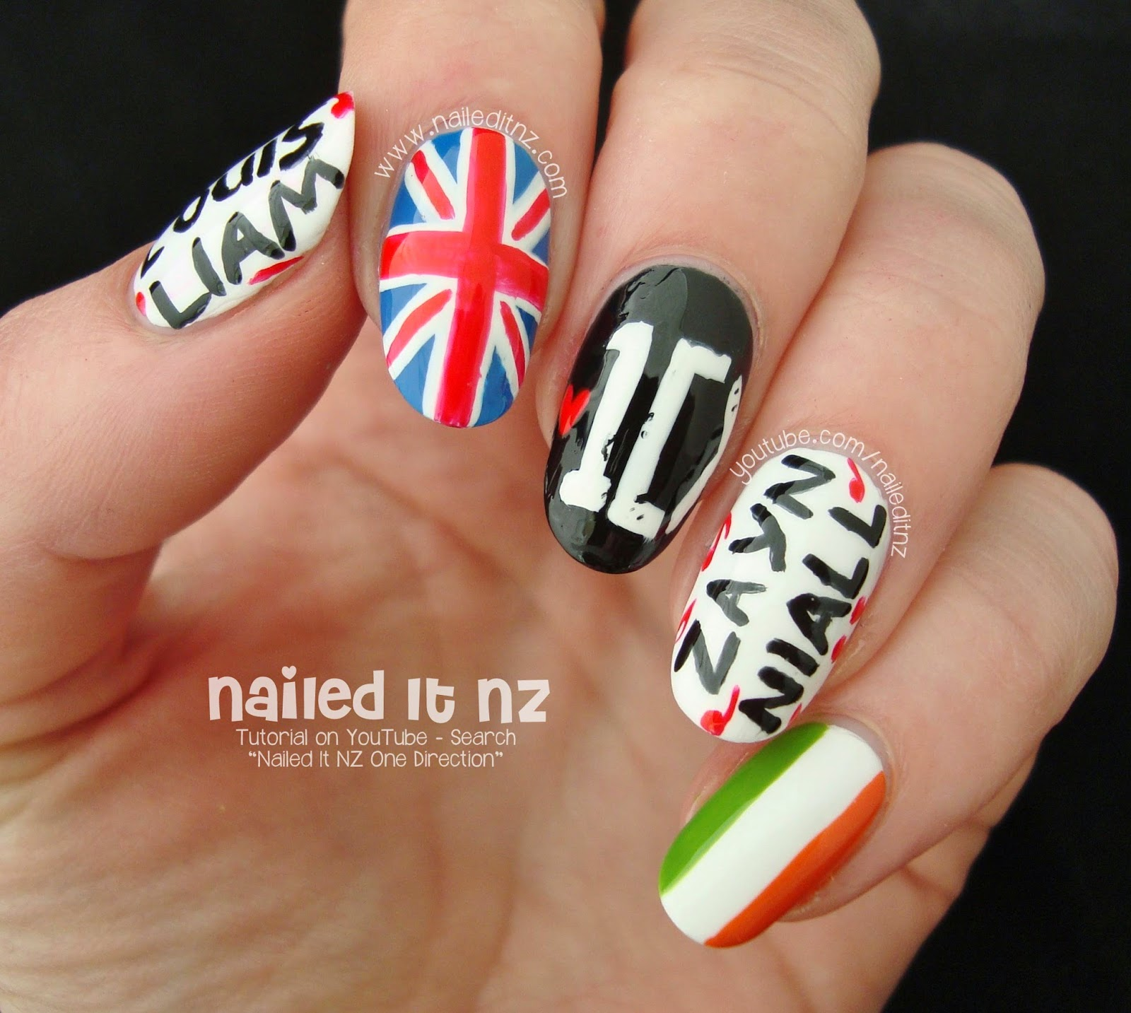 One Direction Nail Art 1d Nails