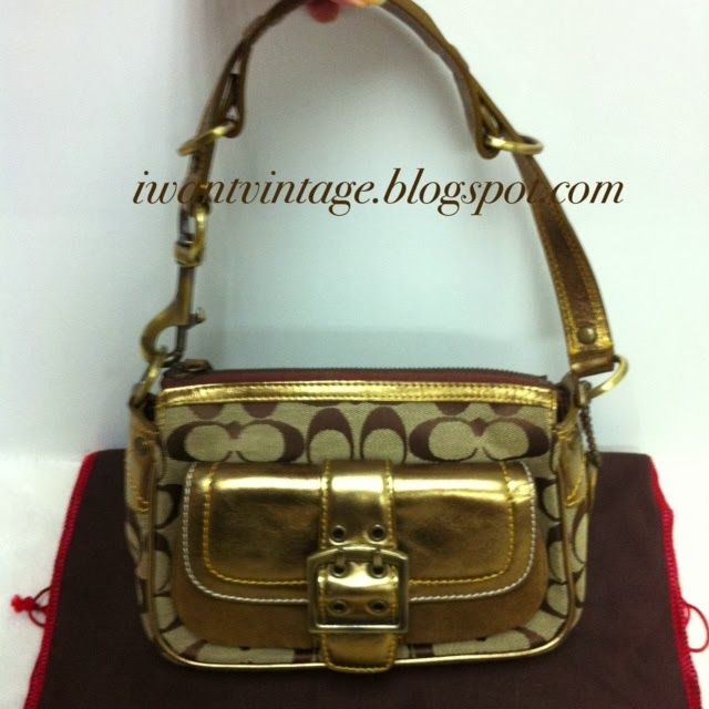 designer purses clearance 6omo  Coach Vintage Signature Shoulder Bag