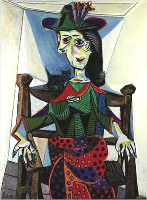Dora Maar with Cat, Pablo Picasso