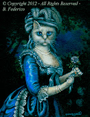 Attired Cat Oil Painting
