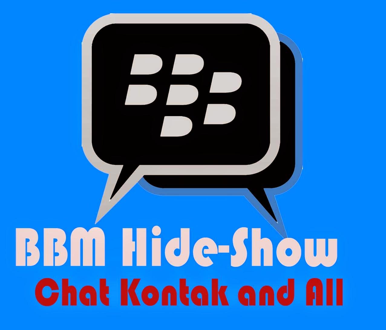 BBM mod hide show data chat kontak all