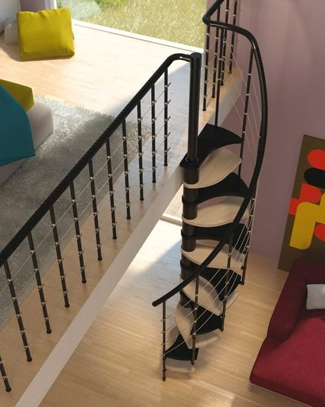 10 modelos y tipos de escaleras para interiores decoraci n del hogar dise o de interiores - Escaleras espacios reducidos ...