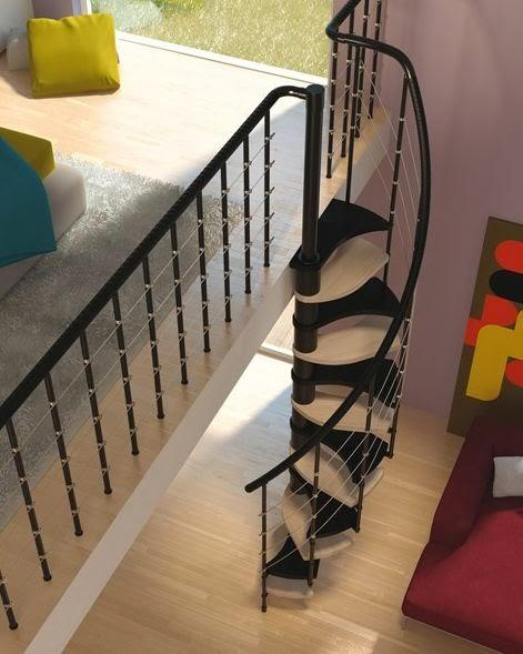 10 modelos y tipos de escaleras para interiores for Escaleras para casa chica