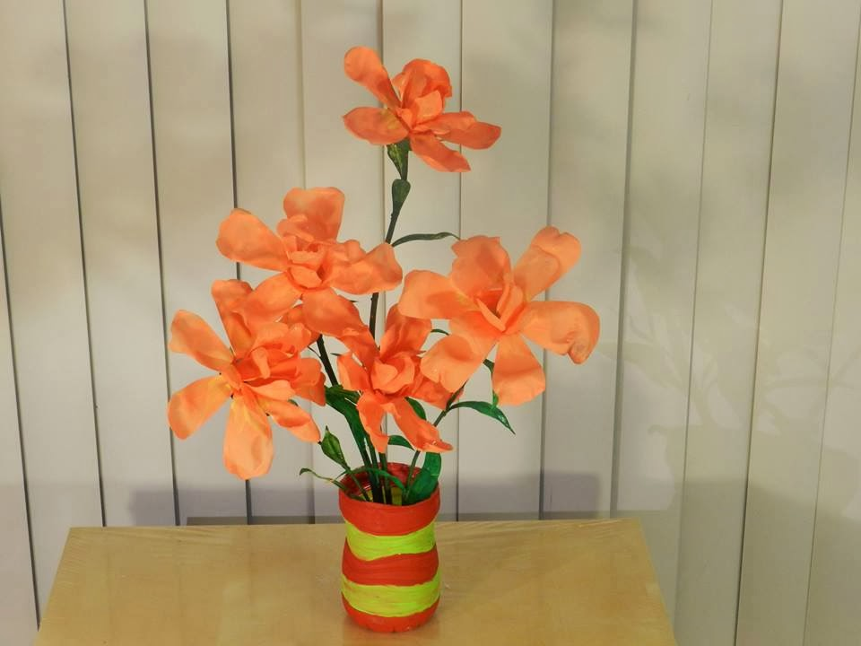 Creative Diy Crafts Waste Water Bottle Flower Vase
