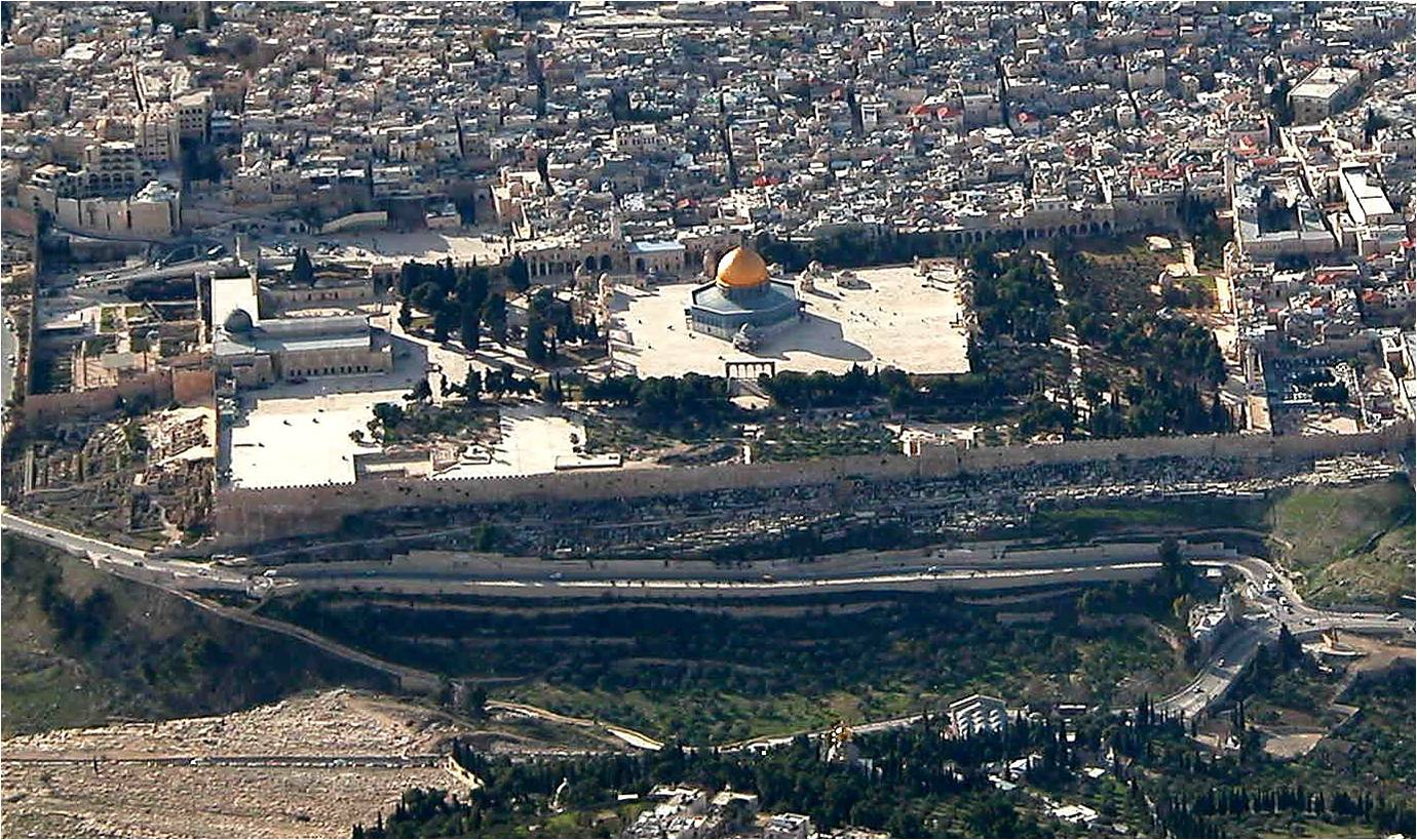 Aerial View Temple Mount Jerusalem