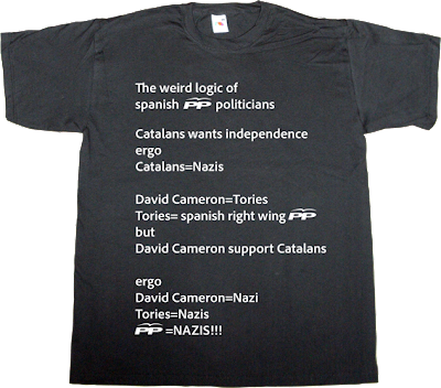 partido popular pp spain is different useless spanish politics catalonia independence scotland freedom dui declaració unilateral d'independència t-shirt ephemeral-t-shirts