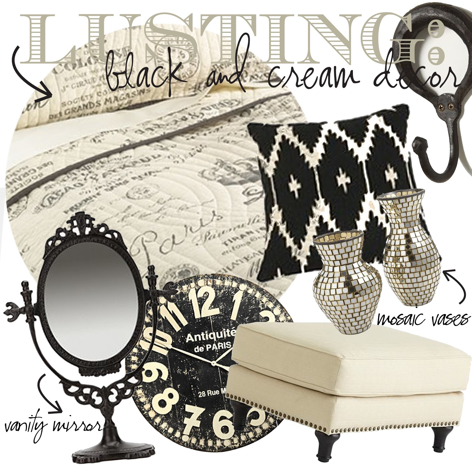 Black Black Cream And On Pinterest