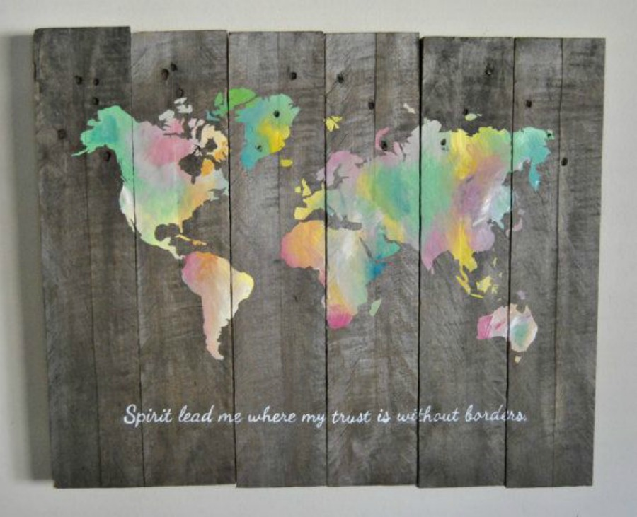 World map spirit lead me where my trust is without borders 4bpspot gumiabroncs Choice Image
