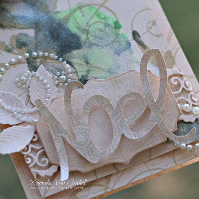 Noel Card featuring DoubleDot Chiffon in Stripe, Flourish and Double Dot with Frosting Jewel Flourish designed by Rhonda Van Ginkel