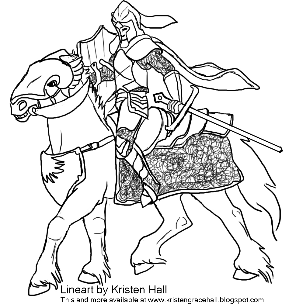 knight and dragon coloring pages - photo#34