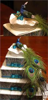 Delicious Peacock Wedding Cake Topper Photo