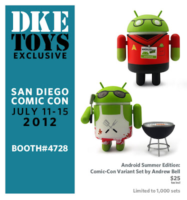 San Diego Comic-Con 2012 Exclusive DKE Toys Summer Edition Android Variant Set by Andrew Bell