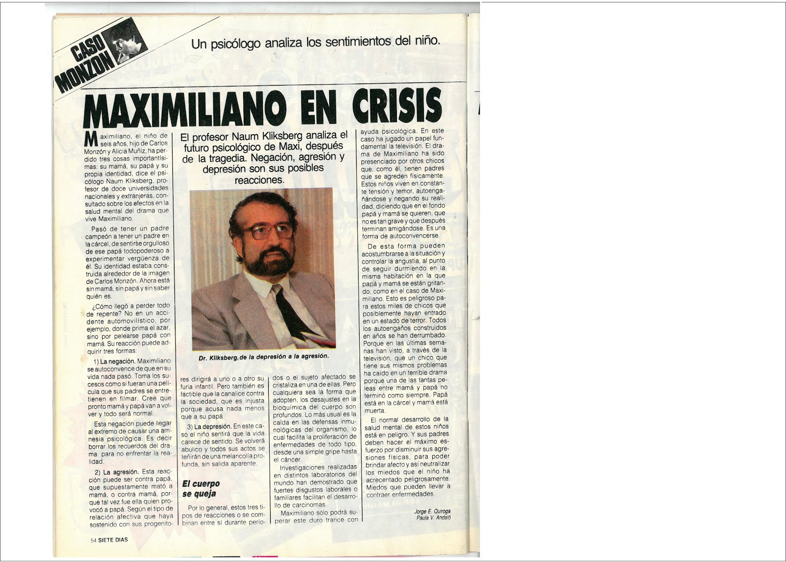 58 - Revista 7 Días, Argentina, 24/03/1988