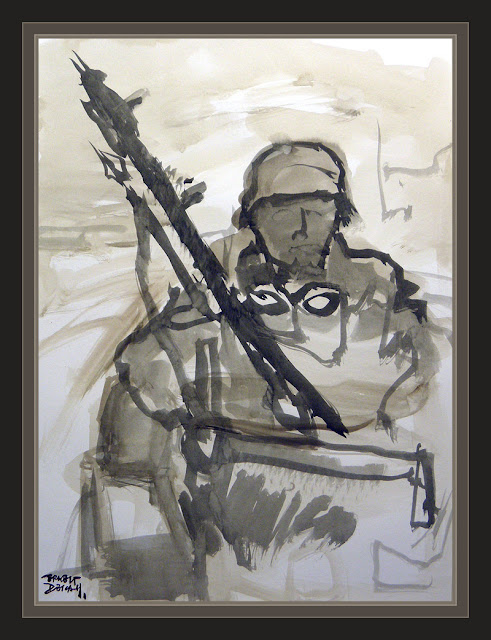 GERMAN SOLDIER-WW2-ART-PAINTINGS-ARTWORK-MOTORIST-ARTIST-ERNEST DESCALS-