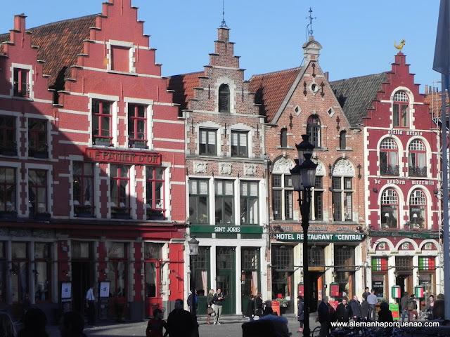 As casinhas coloridas da Grote Markt