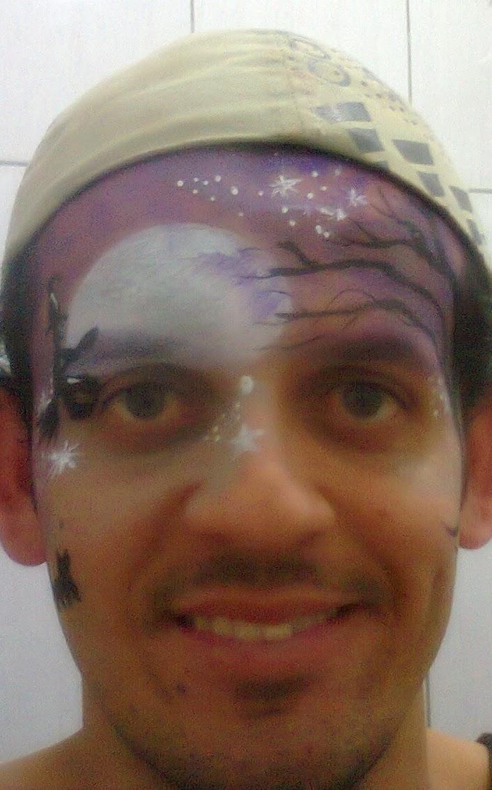 Pintura Facial Artística - Noite de Halloween