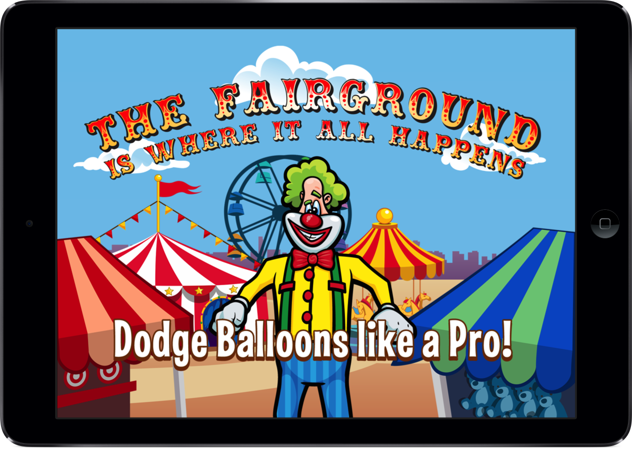 Dodge Balloons like a pro iPad promo art!