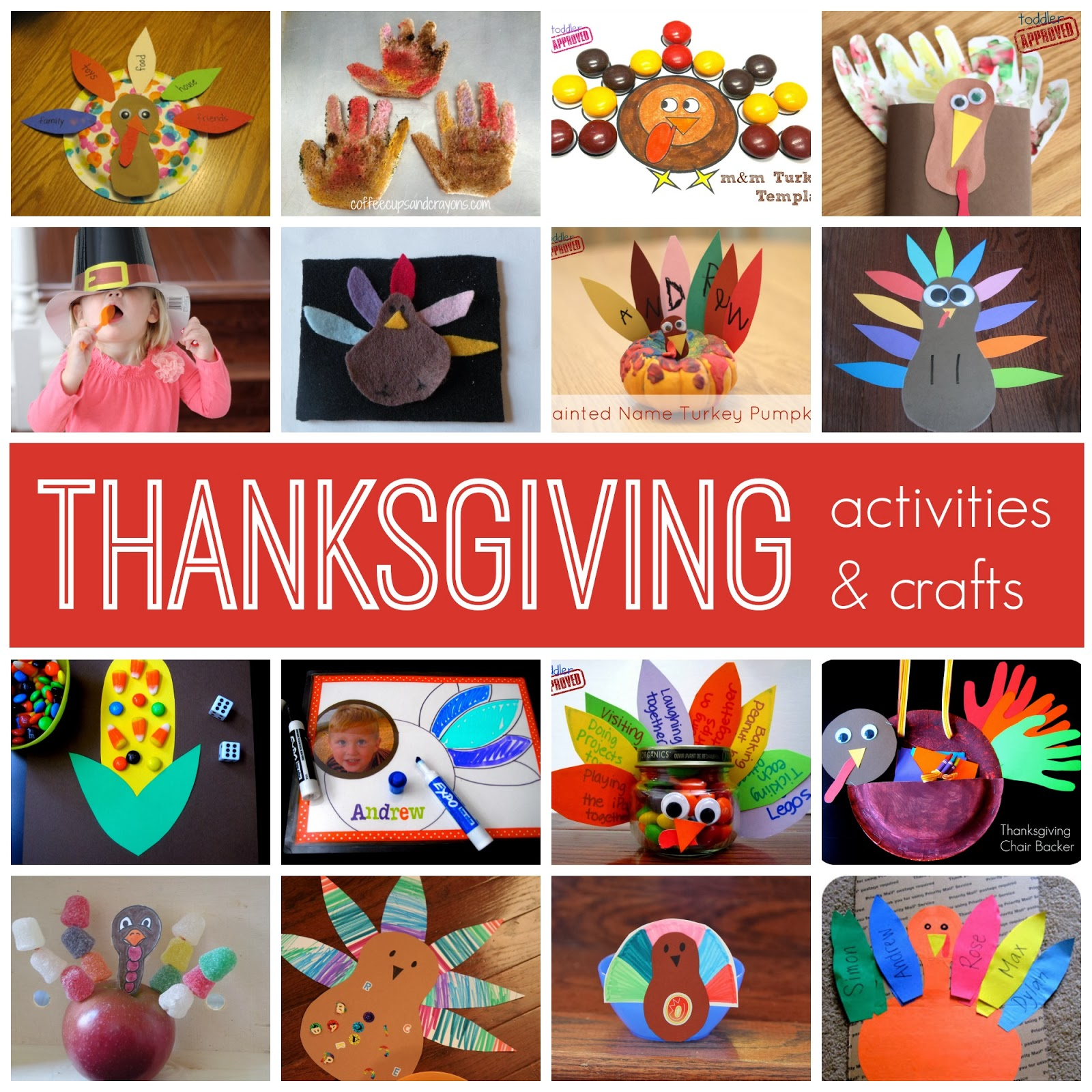 Activities Crafts Games: Toddler Approved!: Simple Thanksgiving Activities & Crafts