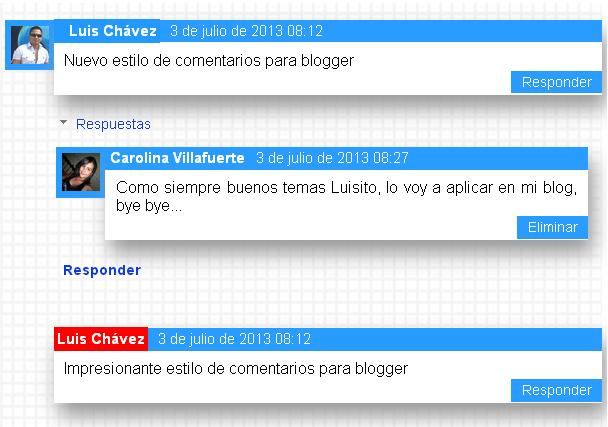 Personalizar la caja de comentarios de blogger