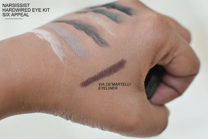 NARSissist Hardwired Eye Kit Fall 2015 - Via De'Martelli Larger Than Life Eyeliner - Swatches