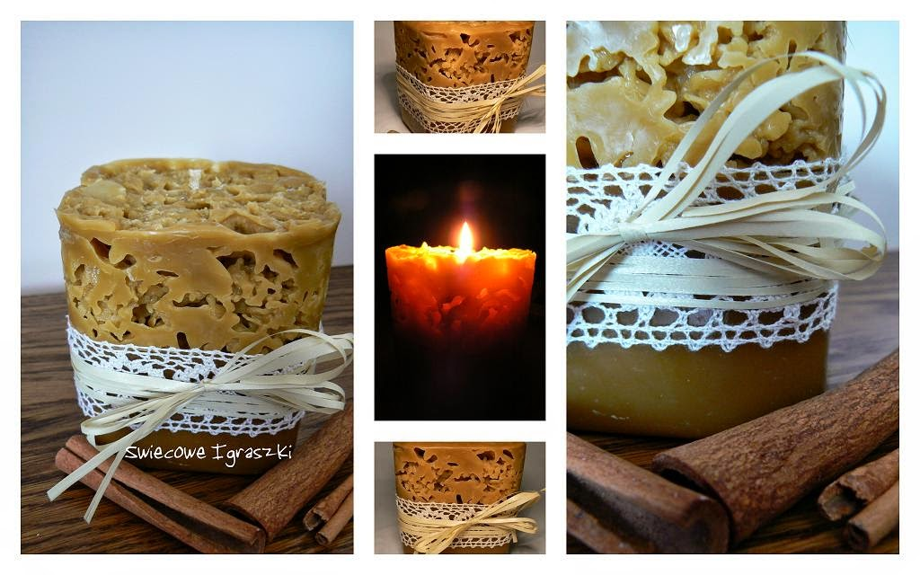 Handmade candle bee wax