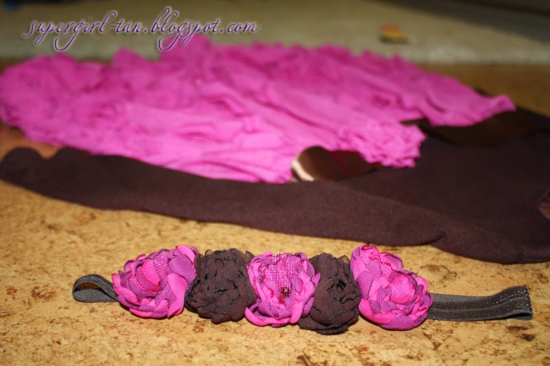 повязка с цветочками