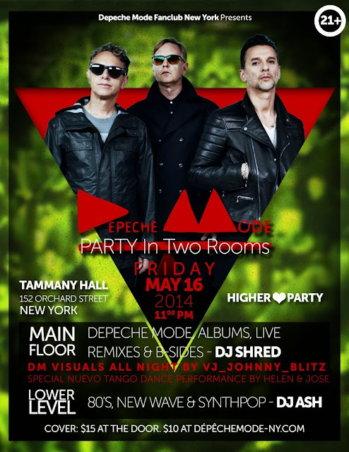 Depeche Mode / 80's Party - Tammany Hall - May 16, 2014