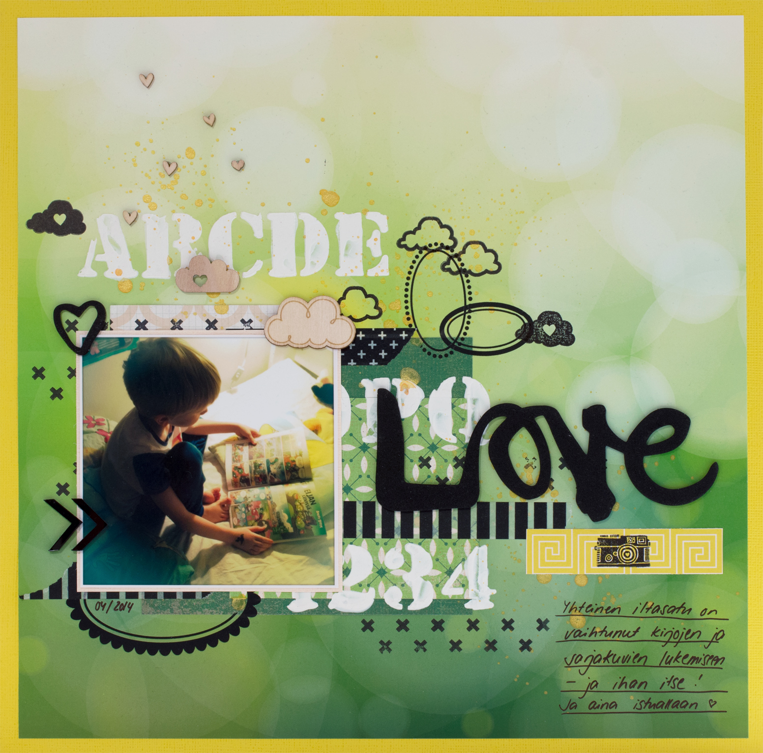 Scrapbook layout: Love