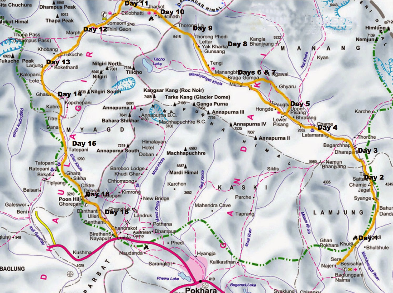 Plan A Road Trip >> John Hayes Walks: Annapurna Circuit - March 2012