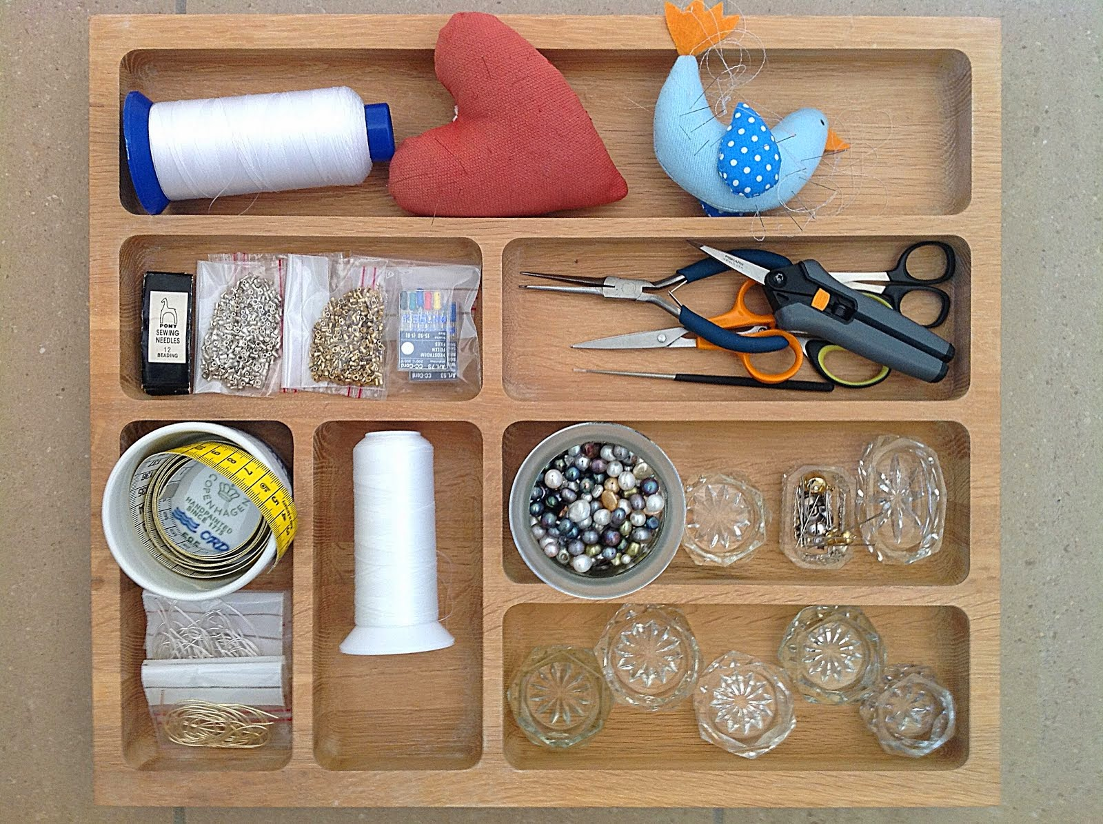 Materialer og vejledning til perlesyning