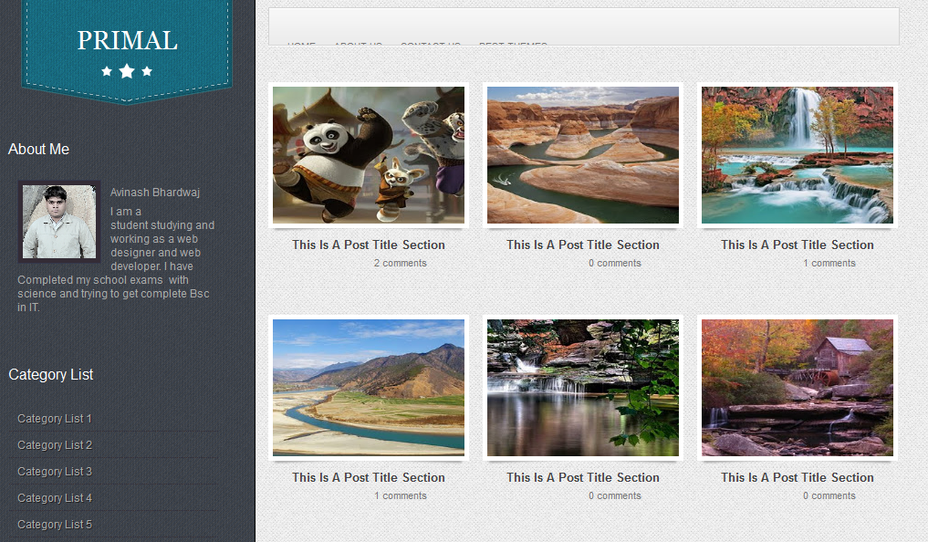 Primal Gallery  Blogger Template