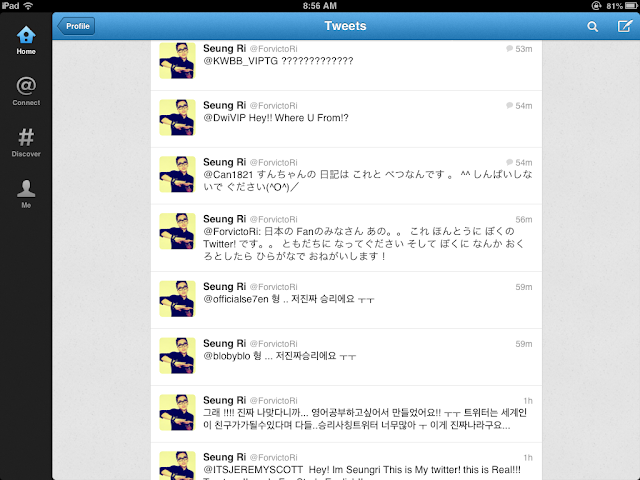 Big Bang Seungri tweets 121119