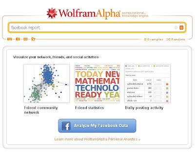 Búsqueda sobre perfiles de Facebook en Wolfram Alpha