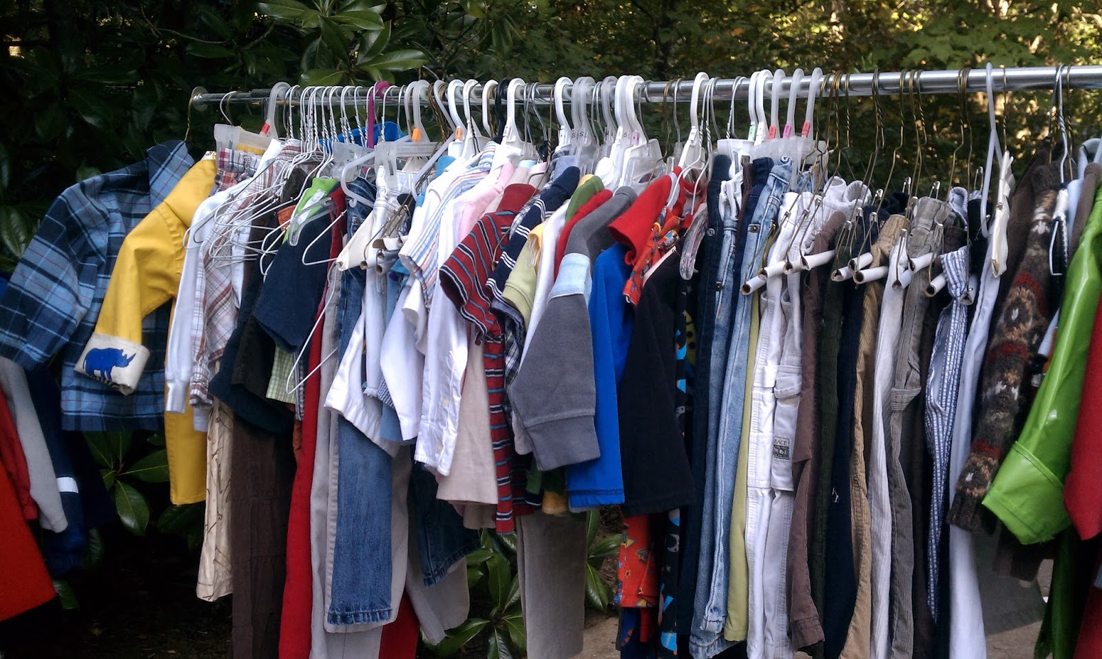 Yard sale for Clothing materials for sale