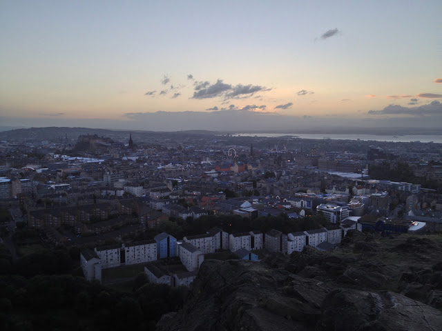 view of Edinburgh from above