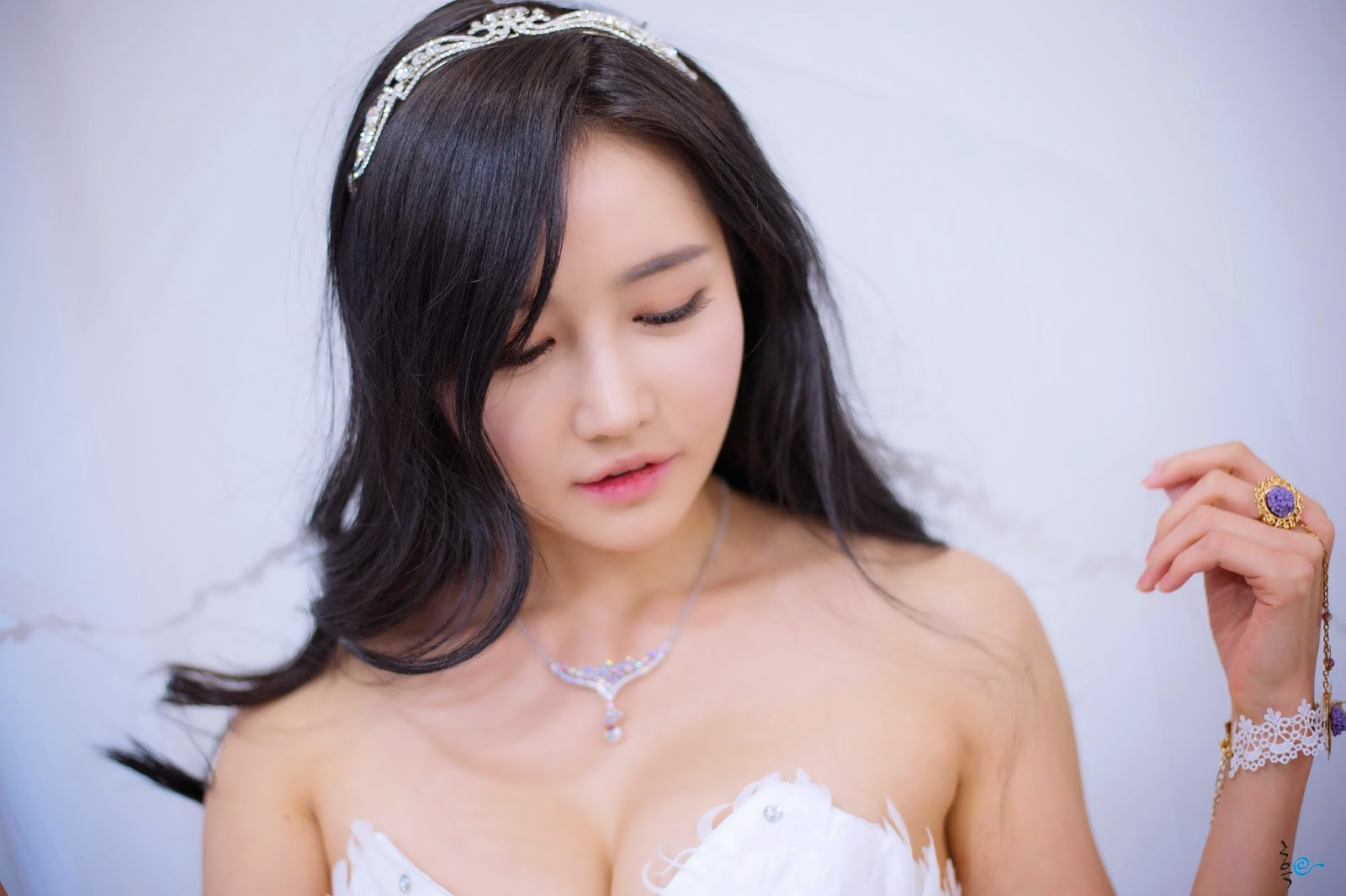 01 - Gorgeous Han Ga Eun In Wedding Dress - very cute asian girl-girlcute4u.blogspot.com