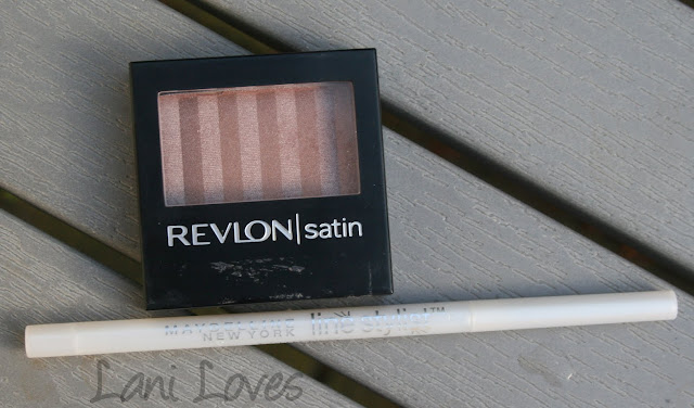 Revlon Nude Slip and Maybelline Bright Eyeliner