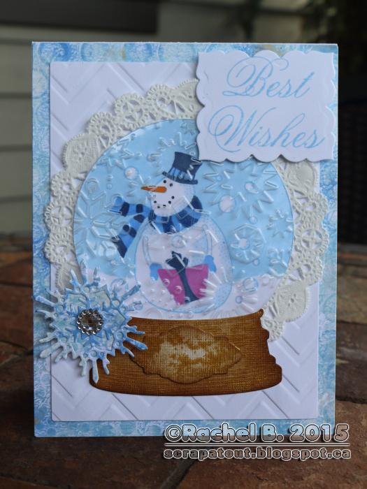 Impression Obsession, Globe, Snowman, Card