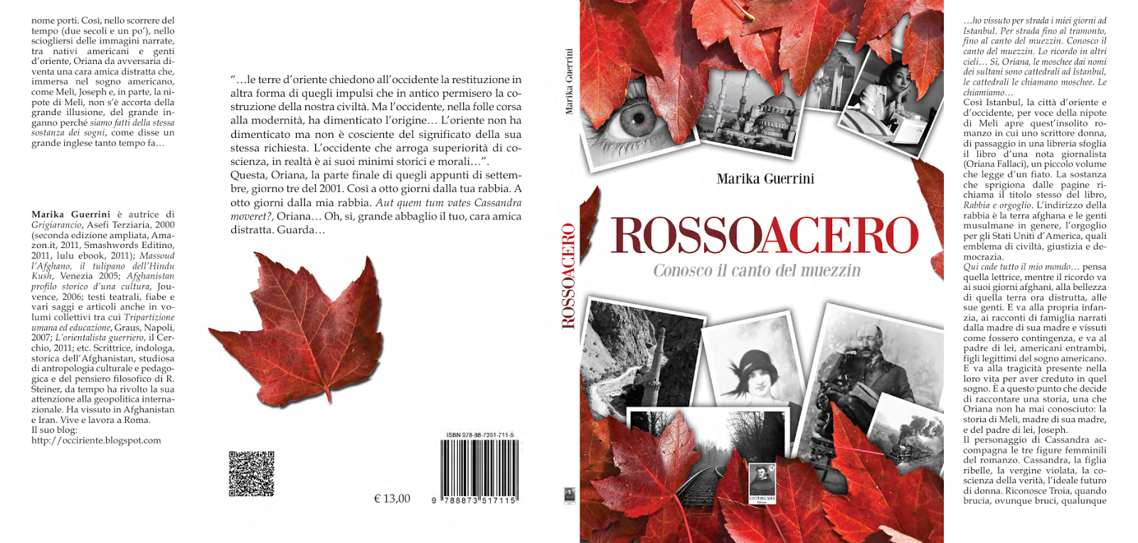 """ROSSOACERO. Conosco. il canto... di Marika Guerrini-Recensioni / Le Monde Diplomatique ed altri..."