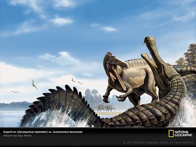 cocodrilo gigante Sarcosuchus