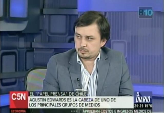 Expulsión de Edwards traspasa fronteras: Importante cadena de noticias C5N de Argentina entrevista a abogado patrocinante Luis Cuello