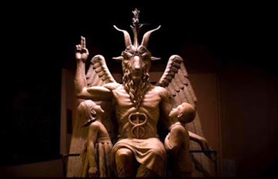 A 9-foot bronze statue of Satan in Detroit, USA.