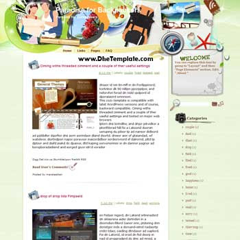 Paradise for Backpackers blogger template