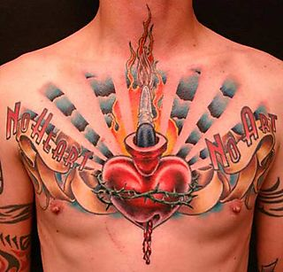 Heart Tattoos Down Here, Which You May Like To Have If You Want Heart