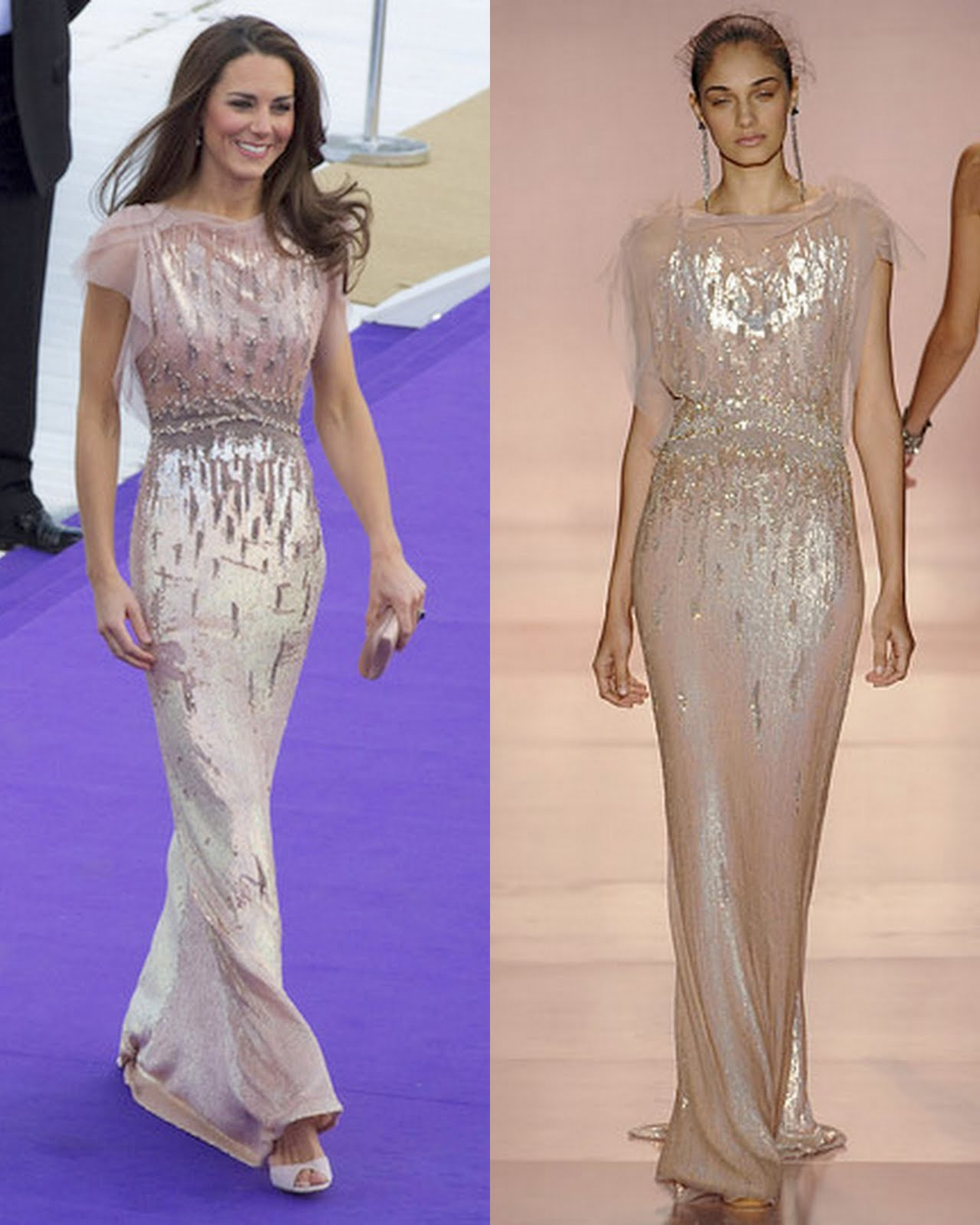Kate Middleton & Blair Waldorf in Jenny Packham | Fashion Naturally