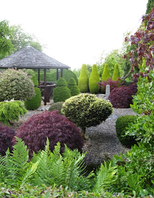 Japanese-style garden in Herefordshire