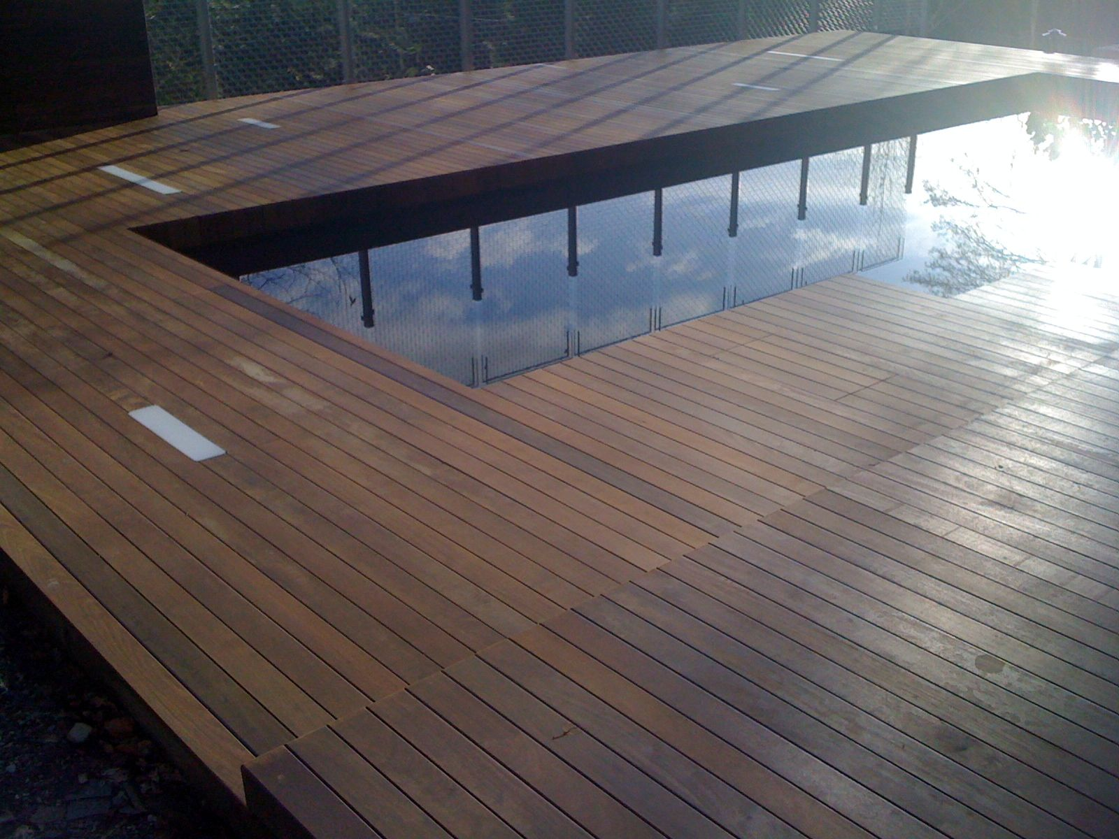 Considered design moody ipe deck for 6 metre lengths of decking